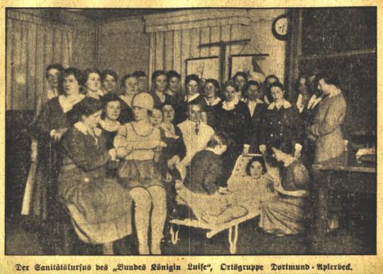 BKL Aplerbeck, Sanitätskurs, 1933
