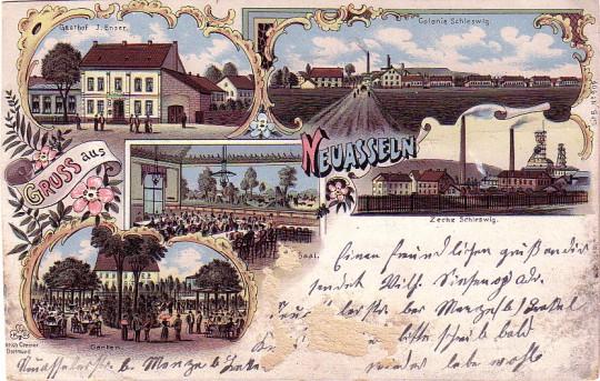 Wirtschaft J. Enser, Neu-Asseln, 1901