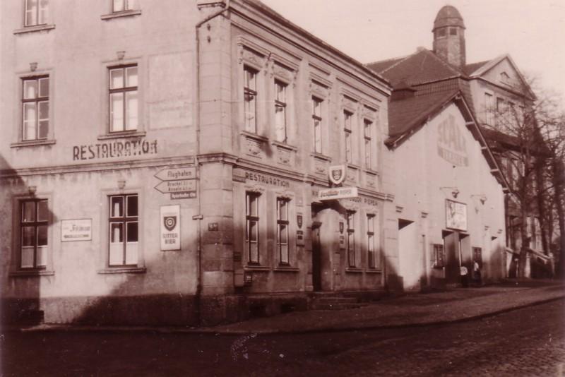 Wirtschaft Pieper mit Saal, um 1950