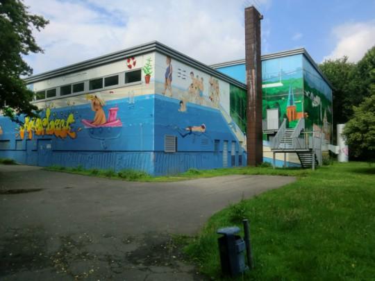 Hallenbad, Südwest-Ecke, 2014