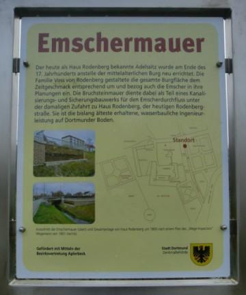 Hinweistafel Emschermauer